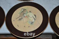 Lady Clare 6 Round Placemats 8 3/4 inch Asian Horse Equestrian Polo Theme