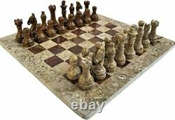 Luxury Marble Hand Crafted 16Inch x 16 Chess Set