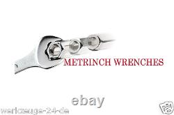 METRINCH Socket Wrenches Set Box for of With Fingerratsche Metric Inch