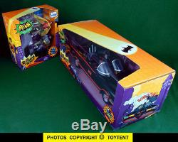 Mattel George Barris Batmobile + Batman & Robin 6-inch figures boxed sets NOS