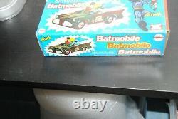 Mego Vintage 8 Inch Figure Batman's Batmobile Super Nice Set Boxed