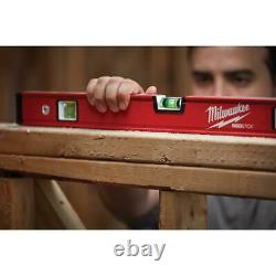 Milwaukee Box and Torpedo Level Set with Storage Bag 10 in. 24 in. And 48 inch