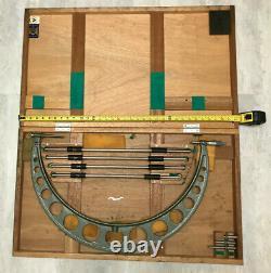 Mitutoyo 20 24 inch micrometer set in original wooden box, free shipping