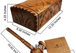 Moonwood Perfect Quality Wood Gavel Boxed Set 12 Inches Rustic Gift Box Set
