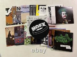 NOFX 126 Inches Of NOFX Singles Collection 18 Record Box Set Gold Vinyl Rancid