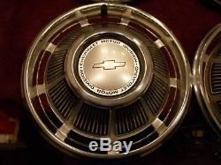 NOS New GM 69 1969 Chevy Impala Full Set Of 4 Wheelcovers Hubcaps 14 Inch BOXED