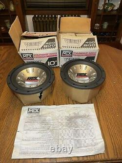 NOS Old School MTX Thunder 8000 10 inch Subwoofer Box Spec Sheet Super Rare Set
