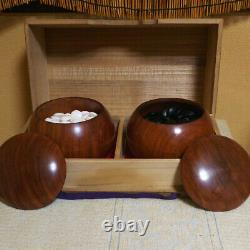 Nachiguro Clam Go Stones & Karin Container Set Igo Japan 0.13 inch with Box
