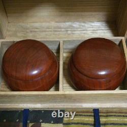 Nachiguro Clam Go Stones & Karin Container Set No. 31 Igo Japan 0.33 inch withBox