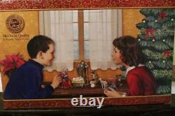 Nativity Set 9pc Kings Animals 5 inch Resin Michael Adams Gift Boxed Beautiful