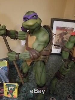 Neca Tmnt Ninja Turtles 1990 Movie 18 Inch 1/4 Scale 4 Figure Set Loose W Boxes