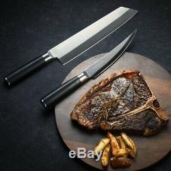 New Kamikoto Kensei Knife Set with Ash box 9.5 Inch Kiritsuke 6.5 Boning Knife