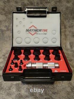 New Open Box 66000 Mayhew Pro 16-pc Hollow Punch Set