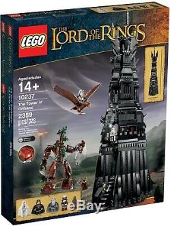 New Sealed Lego 10237 Lord Of The Rings Tower Of Orthanc 28 Inch Tall