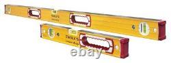 New Stabila 37816 48-Inch and 16-Inch Aluminum Box Beam Level set 7194657