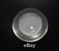 New in Box Set of 4 Waterford Fine Bone China Newgrange Platinum 9 inch Plate