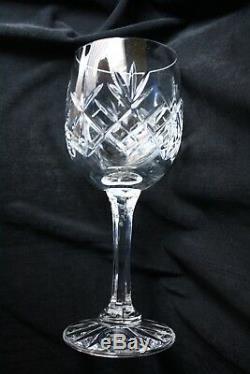 Prague Crystal Wine Goblets 10 set Czech 6.75 inch 6 Ounce New Mint Boxed