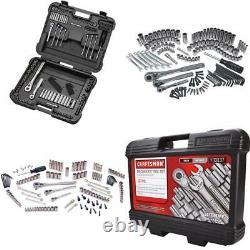 Premium Craftsman 137 Pieces Mechanics Tool Set Sockets Wrenches Tools Kit NEW
