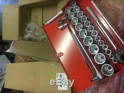 Proto 3/4 Drive Socket Set J55104 29 pc. Set 12 Point Factory Boxed New