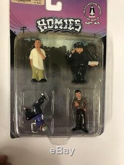 RARE Homies Homie Pool Hall Set #1-4 124 scale 3 Inches With NEW Lunch Box 2004