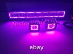 RGB Halo Chasing 22 inch Led Light Bar Combo + 2x 3 Pods Strobe Bluetooth Kit