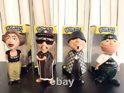 Rare Complete Set of 4 Homies 6 Inch Figure Bobbleheads with Box USED Good F/S