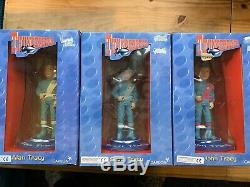 Rare Set of 12 Gerry Anderson Thunderbirds Carlton 6.5 inch resin figures Boxed