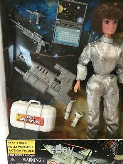 Rare Vintage Power Team Astronaut Set Man and Woman 12 Inches Tall New In Box
