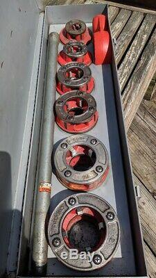 Ridgid 12R 1/2 to 2 inch pipe threader die set for 300 700 535 threader with box