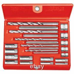 Ridgid 35585 1/4 1/2 Model 10 Screw Extractor Set with Pre-Formed Plastic Box