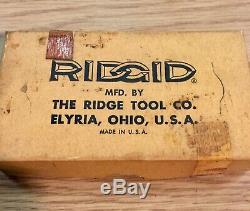Ridgid Die Insert Set 3-1/2 Inch NPT 4P Original Box The Ridge Tool Co Elyria OH