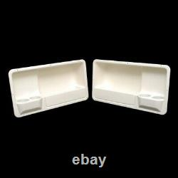 SSi Boat Coaming Storage Box with Cup Holders 29 x 15 1/2 x 7 Inch (Set of 2)