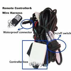 Set 48W 3inch LED Work Light White Red Strobe Spot Fog Warning & HARNESS 4 Pods