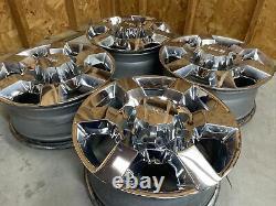 Set 4 18 Inch GMC Sierra 2500 3500 Denali Chrome Factory OEM Wheels Rims