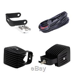 Set 4pcs LED Work Light Bar 3 Cube Pods RGB Halo Color Change Chasing & Wiring