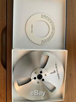 Set Of 3 Vintage 7 Inch Metal Take Up Reels New In Box Scotch And Realistic