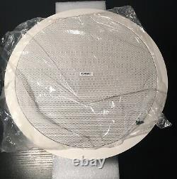 Set of 2 QSC AD-C6T-LP 6.5 inch Low Profile In-Ceiling speaker White Open Box