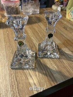 Set of 2 Waterford Lismore 6 Inch Candlesticks -New In Box