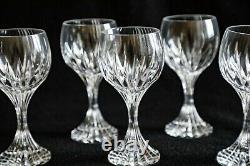 Set of 6 Baccarat Massena Pattern 7 Inch Red Wine Glasses in original box