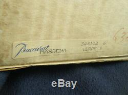 Set of 6 Baccarat Massena Verre 6 1/2 inch tall Wine glasses Original Box France