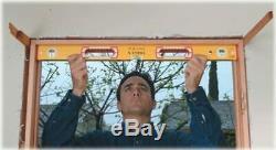 Stabila 37816 48-Inch and 16-Inch Aluminum Box Beam Level Set, Yellow