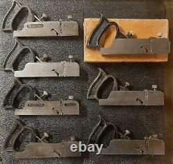 Stanley No 39 skew dado plane set 1/4 thru 1 inch one original box