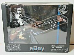 Star Wars Black Series 6 INCH SCOUT TROOPER WITH SPEEDER BIKE FIGURE BOX SET