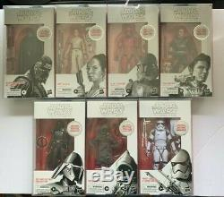 Star Wars Black Series First Edition White Boxes 6 inch Set of 7 Figures NIB