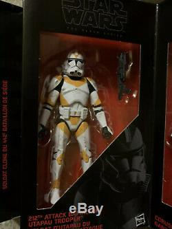 Star wars black series 6 inch lot Clone Order 66 boxed set, Jango Feet x 2