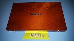 Starrett 436 0-3 inch Outside Micrometer Set Carbide Tip wood box