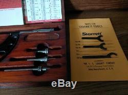 Starrett Micrometer Caliper Set No 224 0-4 inches in Wooden Box