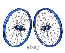 Sun Ringle Envy Bmx Wheel Set 20 Inch Blue Wheels Bike Bikes 20 MM Race 36 Box