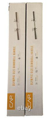 TWO CAP Barbell Solid 20-Inch Olympic Dumbbell Handle set BRAND NEW IN BOX