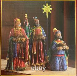 Three Kings Gifts Real Life Christmas Nativity Set, 11 Inches Tall, Open Box